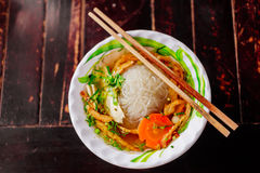 Vegetarian noodle soup Royalty Free Stock Photography