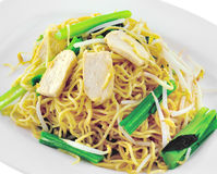 Vegetarian noodles cooked Royalty Free Stock Image