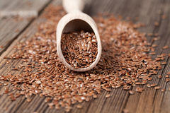 Vegetarian nutrition flax seeds with omega fat in Stock Images