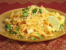 Vegetarian Pad Thai Royalty Free Stock Photos