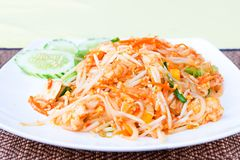 Vegetarian Pad Thai dish Stock Images