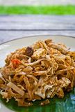 Vegetarian pad thai (thai food). Vegetarian thai food-stir-fried rice noodles (Pad Thai Royalty Free Stock Photo
