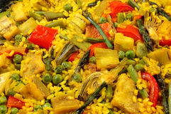Vegetarian Paella - Spanish rice Royalty Free Stock Photography