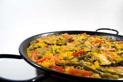 Vegetarian Paella - Spanish rice Stock Photo