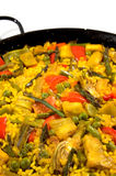 Vegetarian Paella - Spanish rice Royalty Free Stock Photo