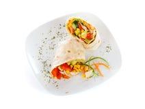 Vegetarian paleo wrap Stock Images