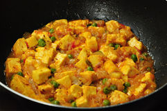 Vegetarian paneer curry stock photo