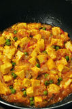Vegetarian paneer curry royalty free stock photos
