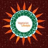 Vegetarian party invitation. Vegan poster. Hand drawn vector ill Royalty Free Stock Photography