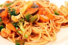 Vegetarian Pasta. Close-up Shot of Vegetarian pasta Royalty Free Stock Image