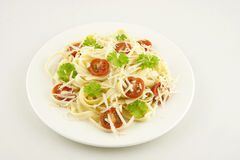 Vegetarian pasta Royalty Free Stock Images