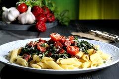 Vegetarian pasta stock image