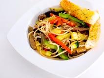 Vegetarian pasta in olive oil Royalty Free Stock Photo