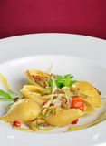 Vegetarian pasta Stock Images