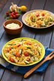 Vegetarian Pasta Salad Stock Image