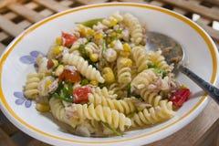 Vegetarian pasta salad Stock Photo