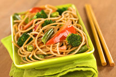 Vegetarian Pasta Stir Fry Royalty Free Stock Image