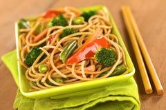 Vegetarian Pasta Stir Fry Royalty Free Stock Image