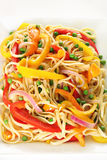 Vegetarian pasta upclose Stock Photography