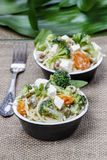 Vegetarian pasta with vegetables Royalty Free Stock Image