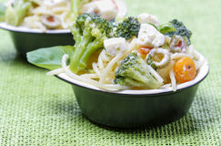Vegetarian pasta with vegetables Royalty Free Stock Photo