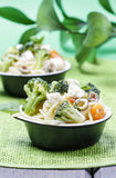 Vegetarian pasta with vegetables Stock Image