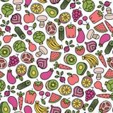 Vegetarian pattern Royalty Free Stock Photos