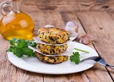 Vegetarian patties or burger made with chickpeas Royalty Free Stock Photography