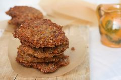 Vegetarian patty with buckwheat Royalty Free Stock Photography