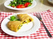 Vegetarian patty on a plate. Vegetarian food Royalty Free Stock Photos