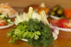 Vegetarian picnic Royalty Free Stock Images