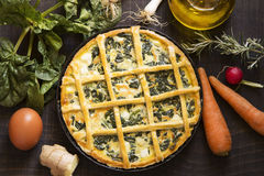 Vegetarian pie Royalty Free Stock Photography