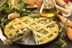 Vegetarian pie Royalty Free Stock Photos