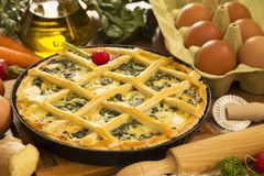 Vegetarian pie royalty free stock images