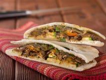Vegetarian Pita Bread Sandwich Arkivbild