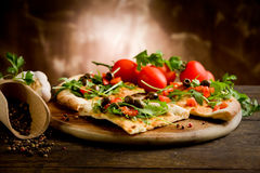 Vegetarian Pizza Stock Images
