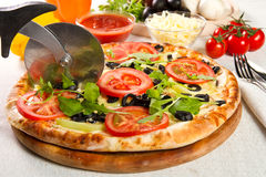 Vegetarian pizza Royalty Free Stock Photos