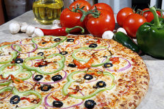 Vegetarian Pizza Royalty Free Stock Image