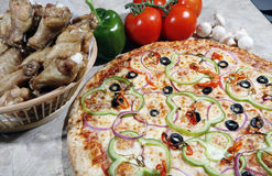 Vegetarian Pizza Combo Stock Image