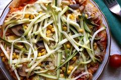 Vegetarian Pizza Stock Photography