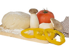 Vegetarian pizza ingredients Royalty Free Stock Photo