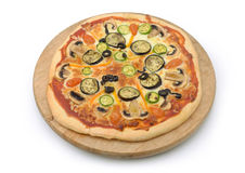 Vegetarian pizza isolated Stock Photo