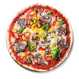 Vegetarian pizza Royalty Free Stock Images