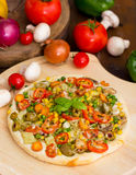 Vegetarian pizza Stock Photography