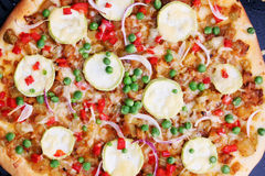 Vegetarian pizza, top view Royalty Free Stock Photo