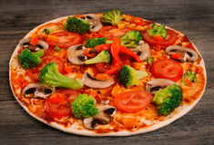 Vegetarian pizza. Royalty Free Stock Photo