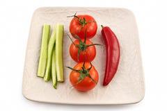 Vegetarian plate Stock Image
