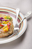 Vegetarian potato pancake on a plate Stock Photography