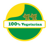 100 vegetarian. Pure vegetarian without mixing any chemicals Royalty Free Stock Images
