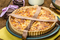 Vegetarian quiche and biscuits dark chocolate Stock Image